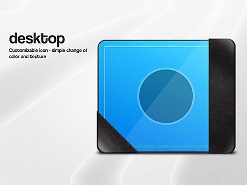Desktop Icon Graphic PSD File