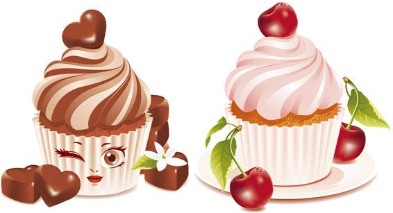 dessert cake vector graphics