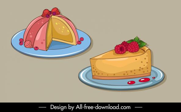 dessert design elements handdrawn 3d sketch