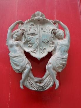 detail doorknocker coat of arms
