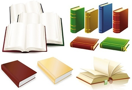 books icons design realistic colored design