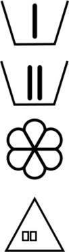 Detergent container symbols