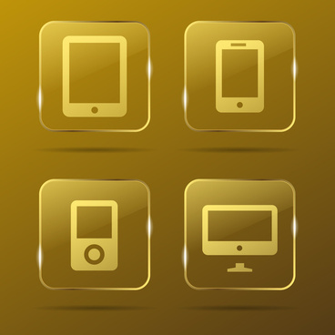 devices gold buttons