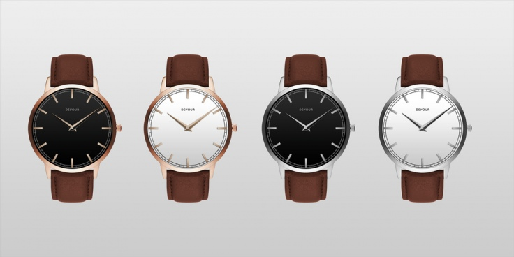 devour elegant leather strap watch
