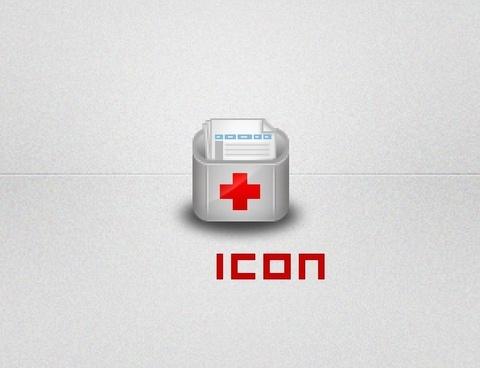 diagnostic icon psd layered