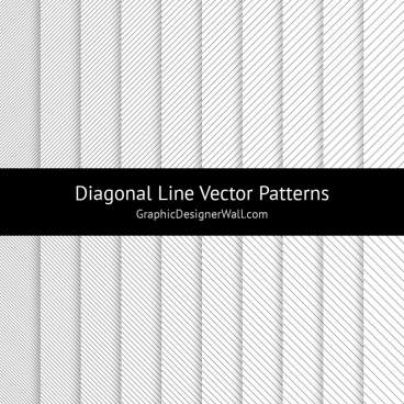 diagonal line vector patterns