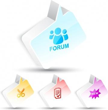 dialog button templates shiny modern 3d shapes