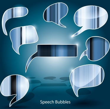 speech bubbles templates modern shiny flat design