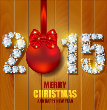diamond15 christmas and wood background vector
