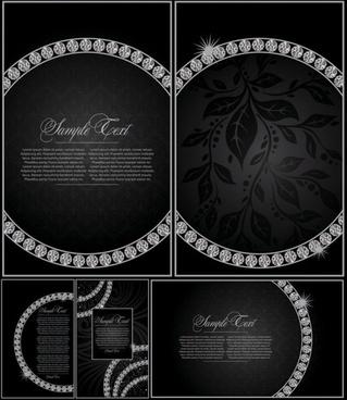 diamond decorative background vector