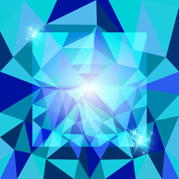 diamond geometric shapes background vector