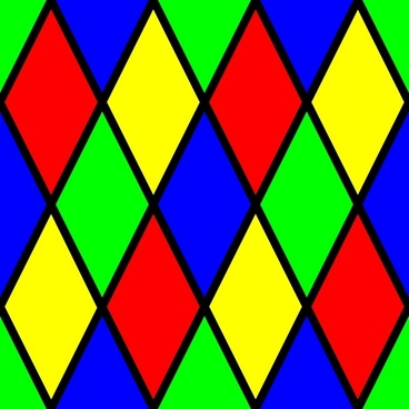 Diamond Harlequin 3 Pattern clip art
