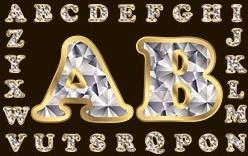 diamond letters 01 vector