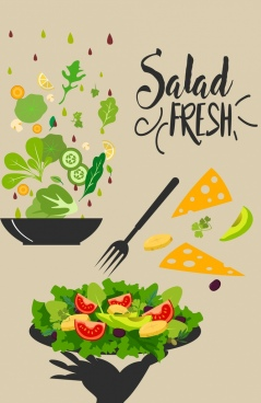 diet banner fresh vegetable food decoration