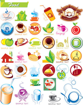 diet graphic icons vector