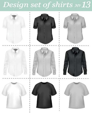 different apparel and t shirt shirt mix vector