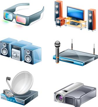 different appliances icon vector set