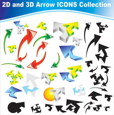 different arrow icon vector