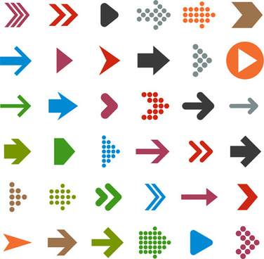 different arrows logos vector
