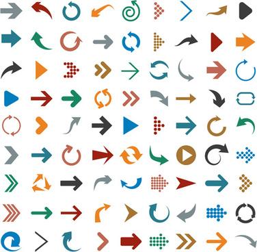 different arrows logos vector