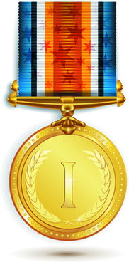 different award medal vector set