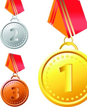 different award medal vector set