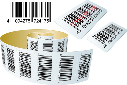 different bar codes design vector set