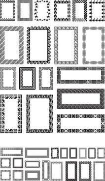 different black frames vector set