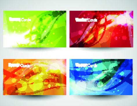 different business cards design vector graphics
