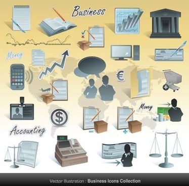 different business icons vector