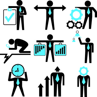 different business people logos design vector set