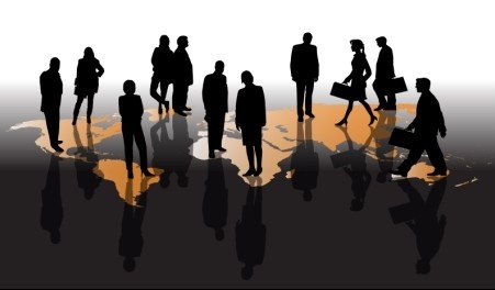 different business people vector background set