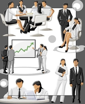 different businesspeople design vector