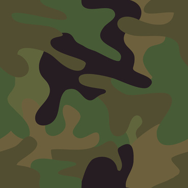 different camouflage pattern design vector set