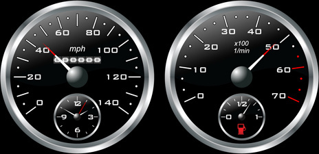 different car dashboard design vector
