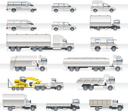 different cargo auto design elements vecto