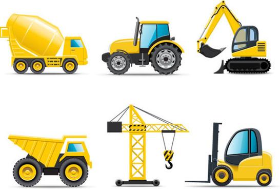 different cartoon truck vector graphics