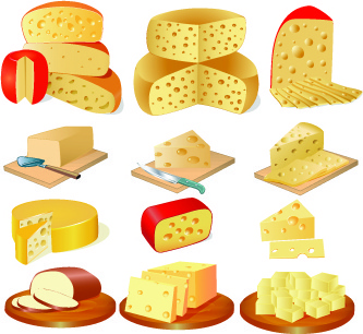 different cheese design set