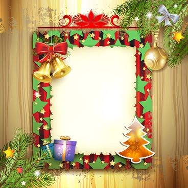 different christmas accessories elements background vector