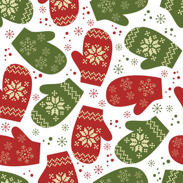 different christmas elements pattern vector
