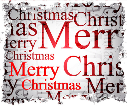 different christmas elements vector background graphics