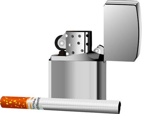different cigarettes elements vector set
