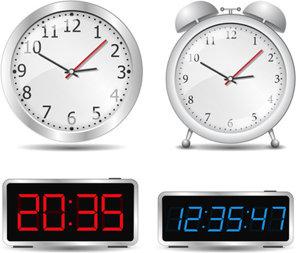 different clock design vector