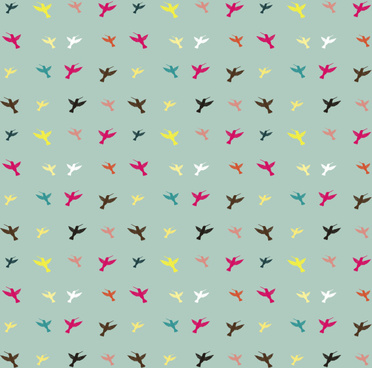 different color birds pattern vector