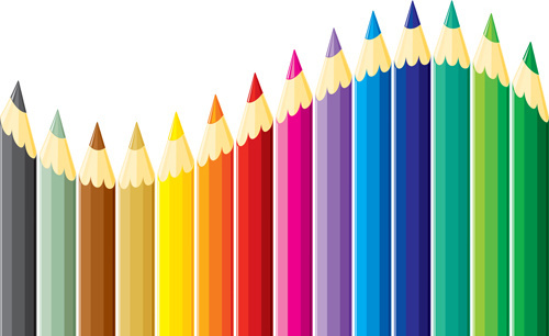 colored pencil vector free free vector download 25 991 free vector
