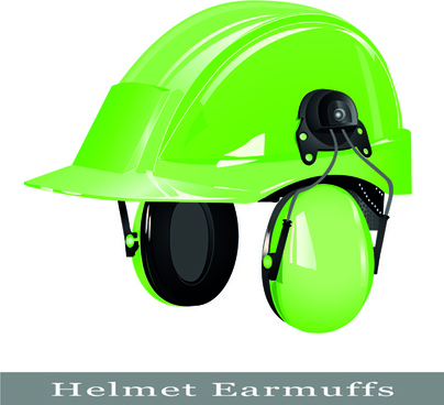 different colored safety helmet elements vector