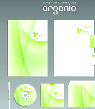 different corporate business kit mix vector