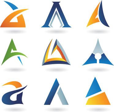different creative stylish logo design vector