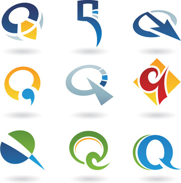 different creative stylish logo design vector