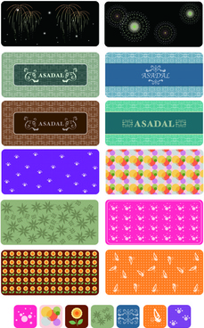different decorative pattern mix vector